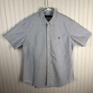 Ralph Lauren Striped Shirt Short Sleeve Button Up